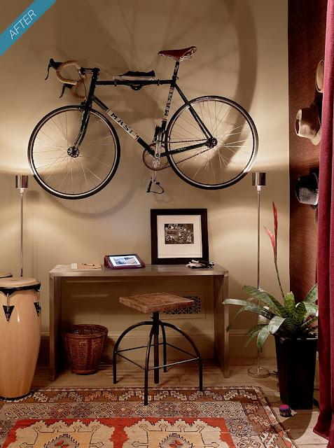 decoracao de sala lojas : decoracao de sala lojas:Que tal decorar sua sala assim? Com bicicleta!