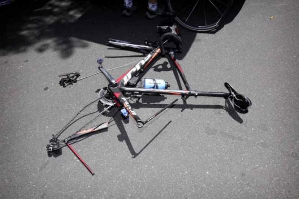 Resultado da queda na bikeFoto: Bettini