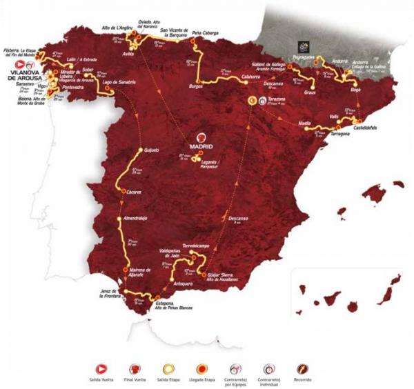 Volta_da Espanha_2013_Percurso