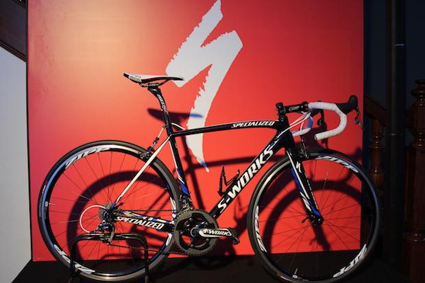 Bike de Contador na sede da Specialized