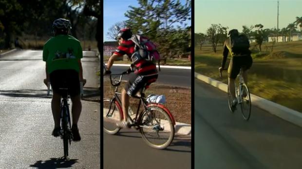 Acompanhe os desafios enfrentados por três ciclistas na EPTG, Epia e Estrutural