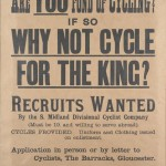 Cartaz convidando ciclistas a se alistarem no exército britânicoImagens: Joe Robinson