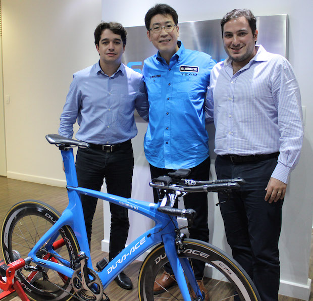Henrique Ribeiro (LM Bike), Fabio Takayanagi (Shimano), Alberto Douek (Isapa)