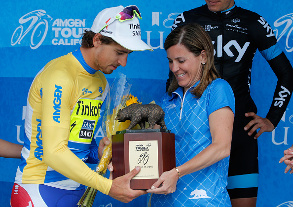 stage eight of the 2015 Amgen Tour of California from Los Angeles to Pasadena on May 17, 2015 in Pasadena, California.