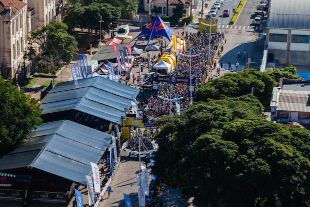 Estrutura montada na praça central da cidade Foto: Ney Evangelista/Festival Brasil Ride