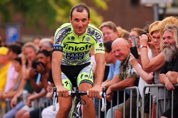 UTRECHT, NETHERLANDS - JULY 02:  Ivan Basso of Italy and Tinkoff-Saxo attends the 2015 Tour de France Team Presentation, on July 2, 2015 in Utrecht. The 102nd Tour de France starts on Saturday with a 13.8km individual time trial around Utrecht.  (Photo by Bryn Lennon/Getty Images)
