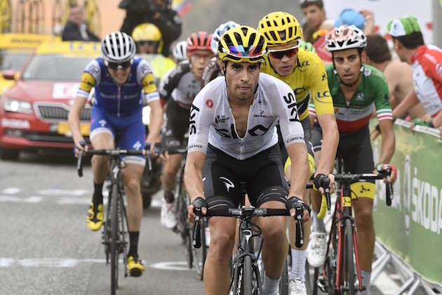 13 July 2017 104th Tour de France Stage 12 : Pau - Peyragudes LANDA Mikel (ESP) Sky, at Peyragudes Photo : Yuzuru SUNADA