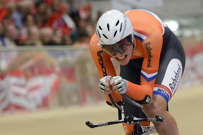 Holandês Dion Beukeboom em sua tentativa de quebra do recorde da hora. Foto: GettyImages
