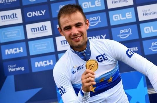 Victor Campenaerts, campeão europeu de contra-relógio. Foto: Bettini.