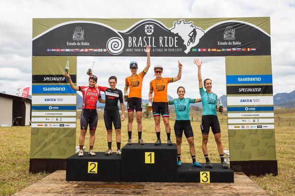 Pódio do dia feminino  (Wladimir Togumi / Brasil Ride)