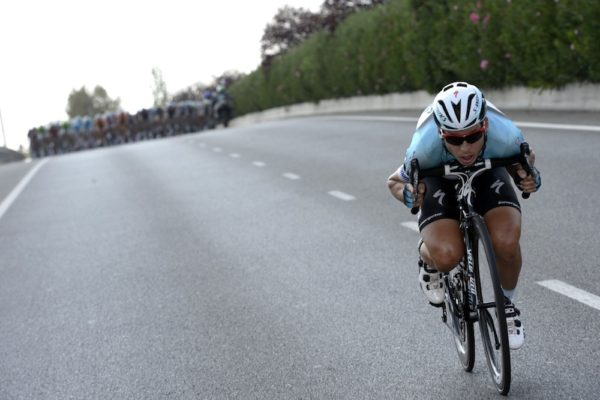Tony Martin numa fuga na Vuelta da Espanha.